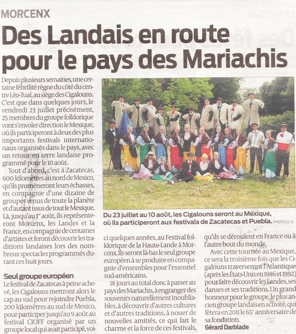 Article SO du 19 Juillet 2010